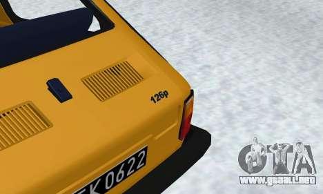 Fiat 126p FL para visión interna GTA San Andreas