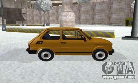 Fiat 126p FL para GTA San Andreas vista posterior izquierda