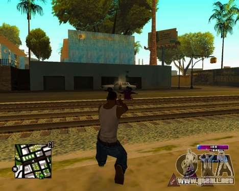 Space C-HUD v2.0 para GTA San Andreas sucesivamente de pantalla