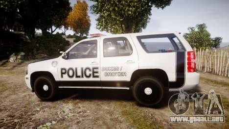 Chevrolet Tahoe 2010 Sheriff Dukes [ELS] para GTA 4 left