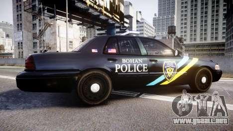 Ford Crown Victoria Sheriff Bohan [ELS] para GTA 4 left