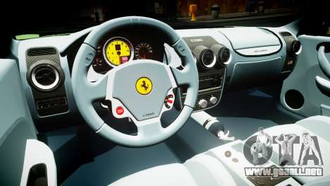 Ferrari F430 2004 para GTA 4 vista interior