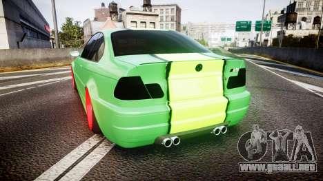 BMW M3 E46 Green Editon para GTA 4 Vista posterior izquierda