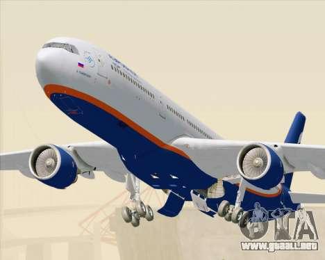 Airbus A330-300 Aeroflot - Russian Airlines para GTA San Andreas vista posterior izquierda