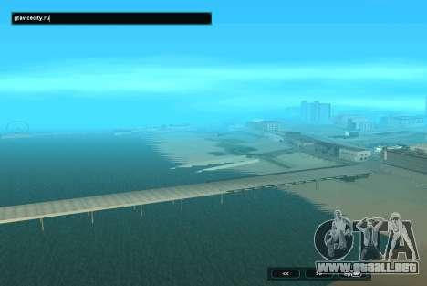 SampGUI Aqua para GTA San Andreas segunda pantalla