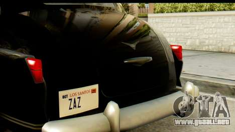 Lassiter Series 75 Hollywood para GTA San Andreas vista hacia atrás