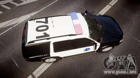 Ford Explorer 2008 LCPD [ELS] para GTA 4 visión correcta