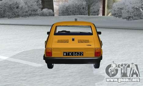 Fiat 126p FL para GTA San Andreas vista hacia atrás