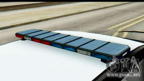GTA 5 Buffalo S Police SF para GTA San Andreas vista posterior izquierda