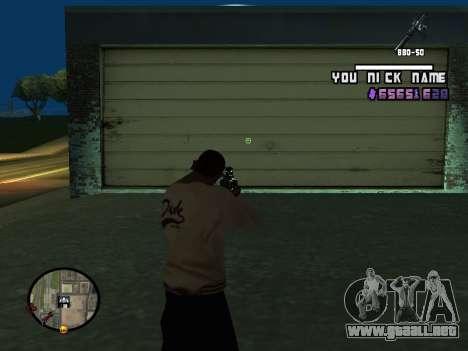 C-HUD by SantiManti para GTA San Andreas tercera pantalla