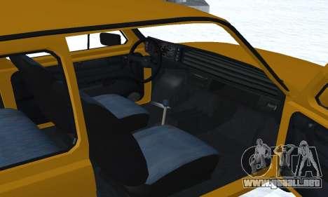 Fiat 126p FL para vista inferior GTA San Andreas