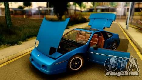 Pontiac Fiero GT G97 1985 IVF para visión interna GTA San Andreas