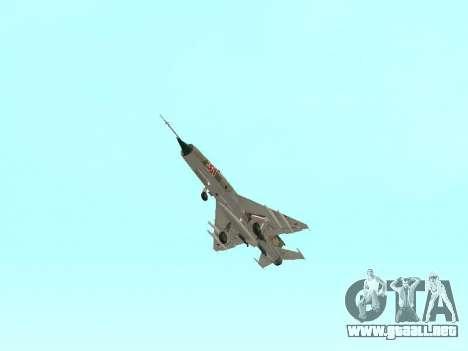 MiG 21 de la fuerza aérea Soviética para la vista superior GTA San Andreas