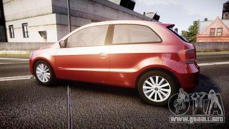 Volkswagen Gol G6 iTrend 2014 rims1 para GTA 4 left