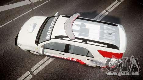 Toyota Hilux SW4 2014 Ronda PMCE [ELS] para GTA 4 visión correcta