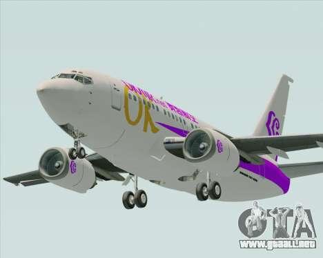 Boeing 737-500 Okay Airways para la visión correcta GTA San Andreas