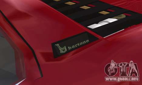 Fiat Bertone X1 9 para vista inferior GTA San Andreas