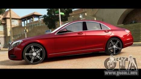 Mercedes-Benz S500 W222 para GTA 4 left