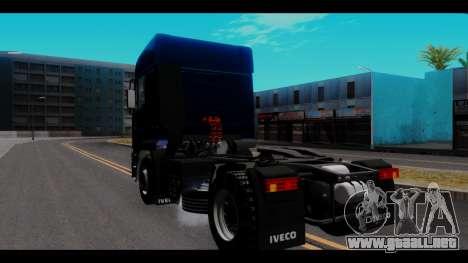 Iveco Eurotech para GTA San Andreas vista posterior izquierda