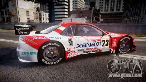 Nissan Skyline R34 2003 JGTC Xanavi para GTA 4 left