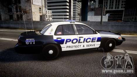 Ford Crown Victoria Police Algonquin [ELS] para GTA 4 left