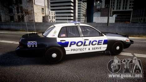 Ford Crown Victoria Police Algonquin [ELS] para GTA 4 left