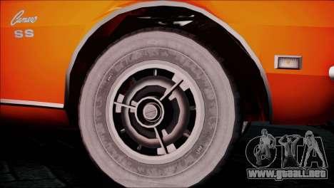 Chevrolet Camaro 350 para GTA San Andreas vista posterior izquierda