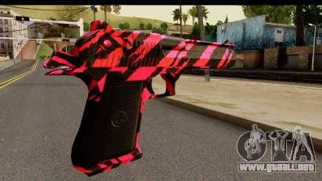 Red Tiger Desert Eagle para GTA San Andreas segunda pantalla