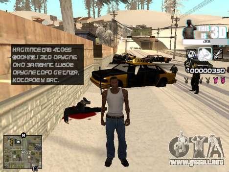 C-HUD 3D para GTA San Andreas tercera pantalla