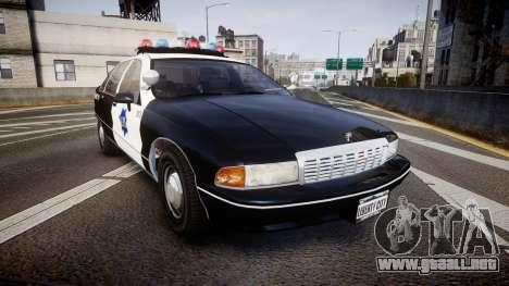 Chevrolet Caprice 1990 LCPD [ELS] Traffic para GTA 4
