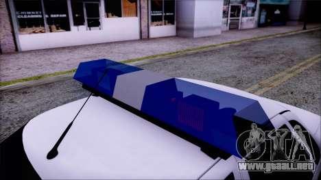Lada Priora 2170 de policía de la MIA de Rusia para la visión correcta GTA San Andreas