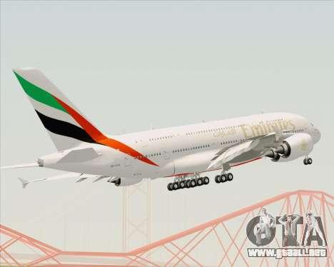 Airbus A380-800 Emirates (A6-EDH) para la vista superior GTA San Andreas