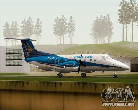 Embraer EMB 120 Brasilia Embraer Livery para GTA San Andreas left