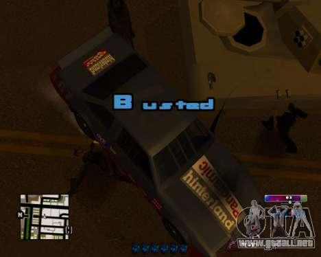 Space C-HUD v2.0 para GTA San Andreas segunda pantalla