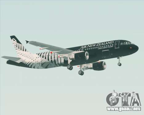 Airbus A320-200 Air New Zealand para vista inferior GTA San Andreas