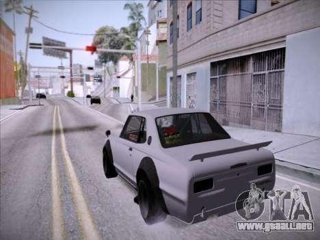 Nissan Skyline 2000 GT-R Drift Edition para GTA San Andreas vista hacia atrás