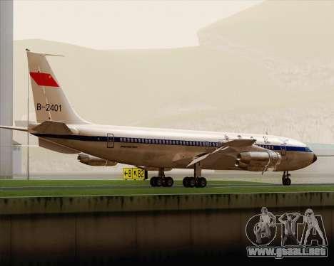 Boeing 707-300 CAAC para la visión correcta GTA San Andreas