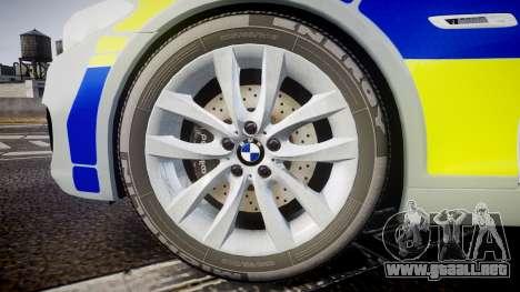 BMW 525d F11 2014 Metropolitan Police [ELS] para GTA 4 vista hacia atrás