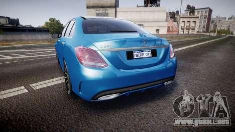 Mercedes-Benz C250 AMG (W205) 2015 para GTA 4 Vista posterior izquierda