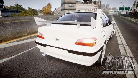 Peugeot 406 Taxi [Final] para GTA 4 Vista posterior izquierda
