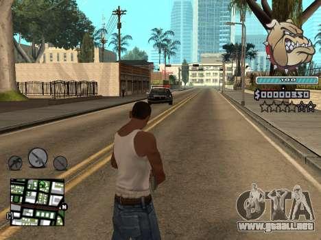 C-HUD Universal para GTA San Andreas quinta pantalla