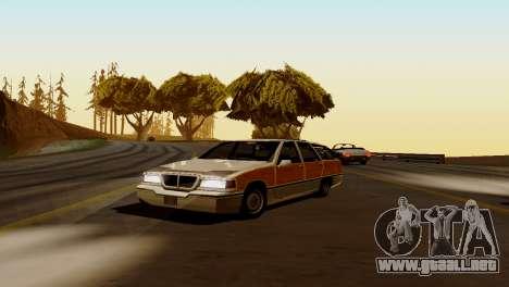 Nuevo transporte y compra para GTA San Andreas sucesivamente de pantalla
