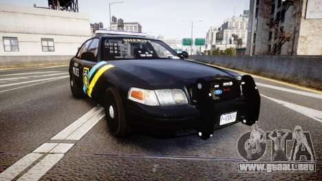 Ford Crown Victoria Sheriff Bohan [ELS] para GTA 4