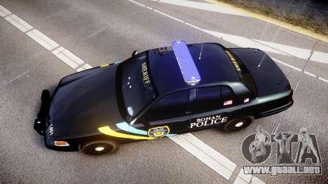 Ford Crown Victoria Sheriff Bohan [ELS] para GTA 4 visión correcta