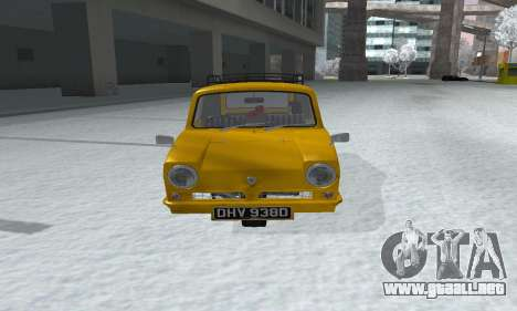 Reliant Supervan Only Fools and Horses para la visión correcta GTA San Andreas