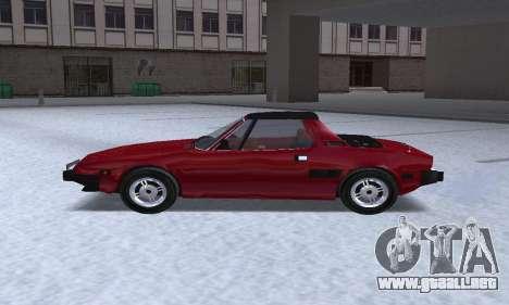 Fiat Bertone X1 9 para GTA San Andreas left