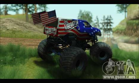 Monster The Liberator (GTA V) para la visión correcta GTA San Andreas
