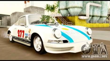 Porsche 911 Carrera 2.7RS Coupe 1973 Tunable para la vista superior GTA San Andreas