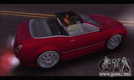 Enus Cognoscenti Cabrio (GTA V) para GTA San Andreas vista hacia atrás
