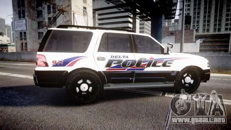Ford Expedition 2010 Delta Police [ELS] para GTA 4 left